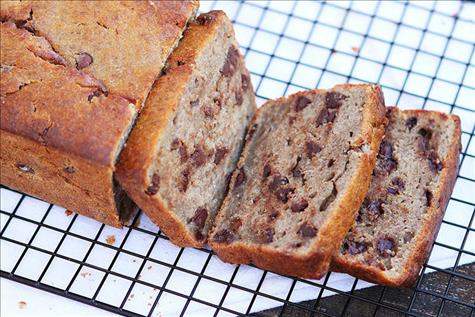 Lentil Chocolate Chip Banana Bread